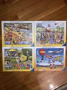 Vtg. Ravensburger Tray Framed Puzzles