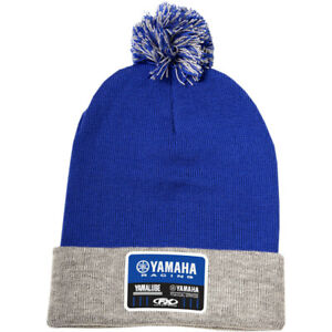 Factory Effex Yamaha Racing Pom-Pom Beanie (Royal Blue / Gray)