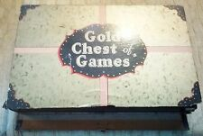 "ANTIQUE ""GOLD CHEST OF GAMES"" 1933  Rare & Wonderful - Lindstrom Tool & Toy Co."