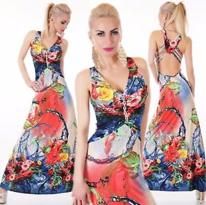 women's Maxi Dress Push Up Cocktail Dress V Neck With Brooch Summer Print