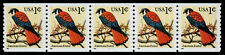 USA, SCOTT # 3044, STRIP OF 5 BYCM PNC #1111 AMERICAN KESTREL BIRD FREE SHIPPING