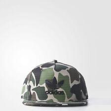 New Adidas originals camo cap hat snap back flat brim Camouflage trefoil green