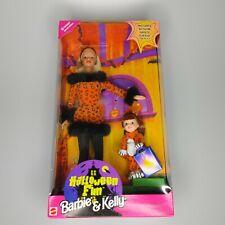 1998 Halloween Fun Edition Barbie & Kelly Doll Gift Set Authentic NIB 23460