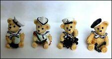 Bear Sailor Mini  Table Top   Set of 4