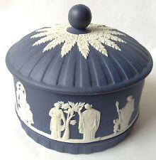 Wedgwood Jasperware Portland Blue Trinket Box