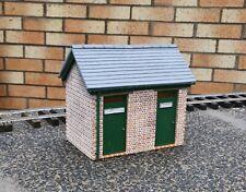 Garden railway station building toilets