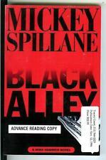 BLACK ALLEY by Spillane, rare US Dutton 1st ARC crime noir Mike Hammer trade pb