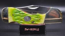 Steel Warrior Folding Moss Green Bone Choctaw Pocket Knife SW-105RWJ (2803)