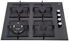 "K&H 4 Burner 24"" NATURAL Gas Glass Cooktop 4-GCW"