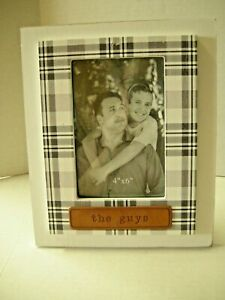 """Picture Frame By Young's, The Guys Theme, 9"""" x 7"""", Wood, Brand New"""