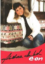 Autogramm Andrea Henkel Biathlon Olympiasiegerin Gesamtweltcup Weltmeisterin eon
