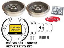 FOR FORD KA 1.3 1996-2008 2 x BRAKE DRUMS + brake SHOE SET + SPRING FITTING KIT