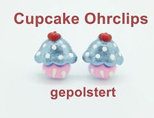 Cupcake Kinder Schmuck Ohrringe Candy Muffin clip on Kinderohrclips Ohrklemmen