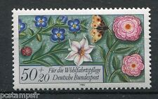 ALLEMAGNE FEDERALE, 1985, timbre 1091, FLEURS et PAPILLON, neuf**