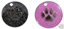Personalised Pink/Black Glitter Dog Tags.