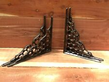 4 Webb Cast Iron Wall Shelf Brackets  Antique Style Corbell Rustic FREE SHIPPINg