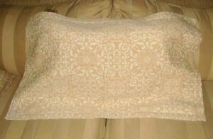 LaMont Home Beige & Tan Heavy Matelasse 100% Cotton King Pillow Sham!  NWOT!