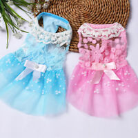 Small Dog Princess Dress Spring Summer Pet Puppy Clothes Skirt for teddy XS