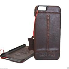 genuine retro real leather Case fit apple iphone 6  6s thin wallet cover slim 6