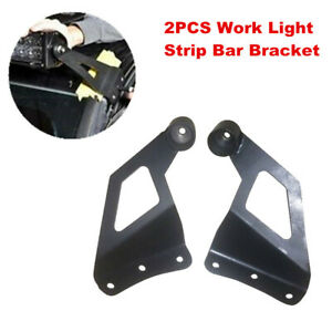 2pc SUV Off-road Vehicle Roof LED Light Strip Car Top Bar Mount Bracket for Jeep