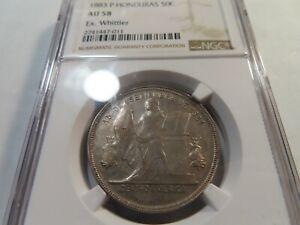 W47 Honduras 1883-P 50 Centavos Ex. Whittier NGC AU-58