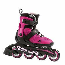 Rollerblade Usa Microblade Girls Fitness Inline Skate, Medium, Pink (Open Box)