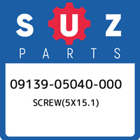09139-05040-000 Suzuki Screw(5x15.1) 0913905040000, New Genuine OEM Part