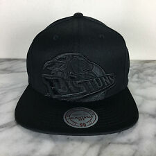 Mitchell and Ness Detroit Pistons Black Adjustable Fit NBA Snapback Cap Hat