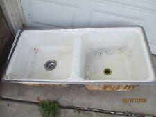 American Standard Double Basin Antique Cast Iron Sink