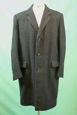 Edler Tweet Crombie Coat Mantel grau vintage Scottland Gr 52/L reine Schurwolle