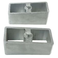 """2"""" Aluminum Lowering Blocks Pair For Rear Axle 1985 - 2004 Chevy S10 Truck"""