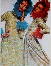 Jean varon maxi dress as seen in vogue - Ditsy Vintage festival 1970s - Size s