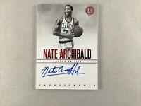 2018-19 Panini Encased Endorsements Red /25 Nate Archibald #EN-NAB On Card Auto