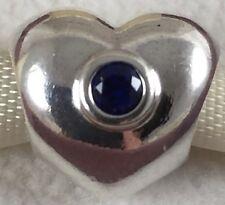 Genuine PANDORA Sterling Silver Royal Wedding 2011 C & W Heart Charm 790875SSB