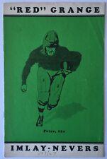 1928 Red Grange Vs Imlay Nevers Pro Football Program