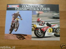 008 YAMAHA VINTAGE BROCHURE COMPETITION MODELS 1982 ? FRENCH 6 PAGES TZ500,YZ,IT