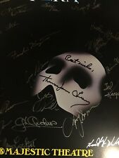 Autographed Broadway The Phantom of The Opera Late 1997 Poster Thomas O'Leary