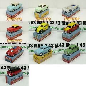 LOT-C 10 Voitures 1/48 MERCURY hachette : Alfa Romeo, Fiat, VW, Mercedes