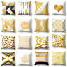 Qu_ Geometric Pattern Heart Letter Cushion Cover Pillow Case Home Bed Decor Myst