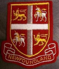 Embroidered International Patch Provincial flag Newfoundland Canada NEW