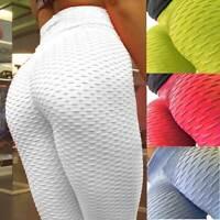 Women Push Up Yoga Pants Anti-Cellulite High Waist Leggings Gym Fitness Trousers
