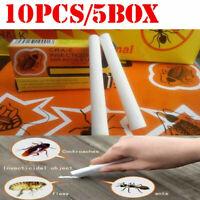 10pcs/5 boxs Effective Chalk Cockroach Roach Killer Trap Pesticide Home Kitchen