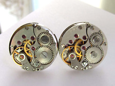 Mens Steampunk Punk Studs Posts Earrings Ear Gears burning man Gift for Him