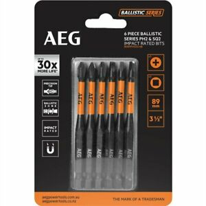 AEG 89mm Ballistic Series Impact Driving Set - 6 Piece - German Brand
