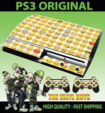Playstation ps3 vieux forme emoji visages icônes humeurs Autocollant peau & 2 pad skins