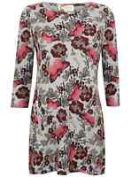 Ladies Blouse Top Soft Touch Ex Store 21 Thick New Womens Size 10-22 Tunic Pink