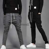 Mens Casual Jogger Dance Sportwear Baggy Harem Pants Slacks Trousers Sweatpants~