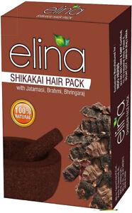 Pure Natural Shikakai Powder Hair Pack w Jatamansi, Brahmi, Bhringaraj 100g pack