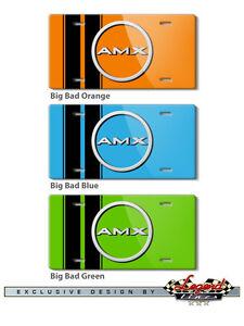 AMC Big Bad AMX 1968 1969 1970 Vintage Badge Emblem Logo Novelty License Plate