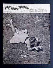 Fotograficky Obzor Apr 1940 Czech Avant-garde Photography FUNKE Josef EHM SUDEK